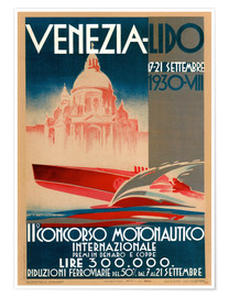 Poster  Lido de Venise 1930 (italien) - Travel Collection