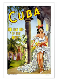 Poster  cuba - holiday isle