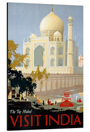 Tableau en aluminium  The Taj Mahal, Visit India - Travel Collection