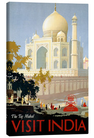 Tableau sur toile  The Taj Mahal, Visit India - Travel Collection