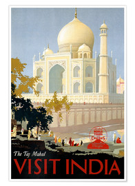 Poster  The Taj Mahal, Visit India - Travel Collection