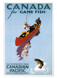 Poster  Canada for Game Fish - Travel Collection