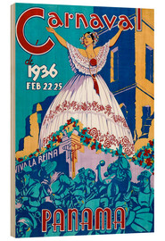 Tableau en bois  Carnaval Panama 1936 - Travel Collection
