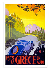 Poster  Visitez la Grèce en auto - Travel Collection
