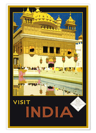 Poster  India - Delhi House - Travel Collection