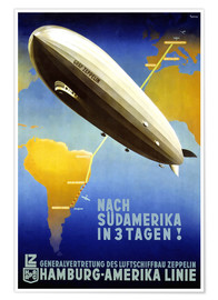 Poster  Graf Zeppelin, Hamburg Amerika Linie - Travel Collection