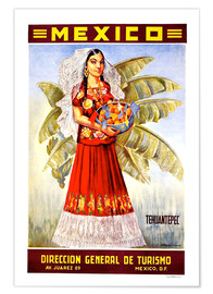 Poster  Mexico - Tehuantepec - Travel Collection
