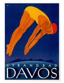 Poster  Strandbad Davos - Travel Collection