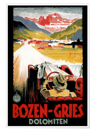 Poster  Bozen-Gries Dolomiten - Travel Collection