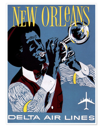 Poster New Orleans Delta Air Lines
