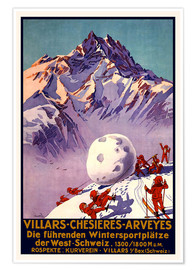 Poster  Sports d'hiver à Villars, Chesieres et Arveyes - Travel Collection