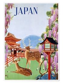 Poster  Affiche touristique vintage du Japon - Travel Collection