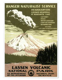 Poster  Lassen Volcanic - National Park - Travel Collection