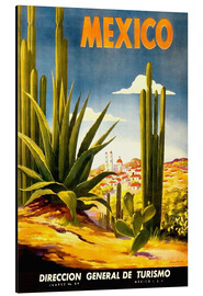 Tableau en aluminium  Cactus mexicain - Travel Collection