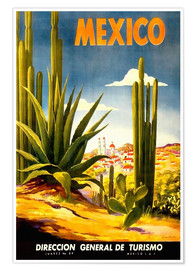 Poster  Cactus mexicain