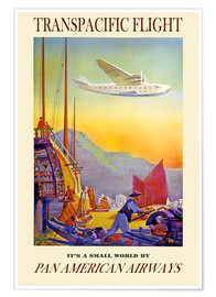 Poster  Le monde est petit avec Pan American Airways (anglais) - Travel Collection