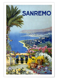 Poster  Sanremo - Travel Collection