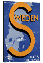 Tableau en aluminium  Sweden - this is the place - Travel Collection