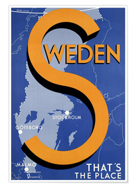 Poster  Sweden - this is the place - Travel Collection