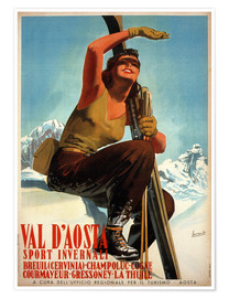 Poster  Val d'Aosta - Travel Collection