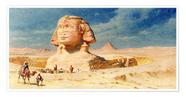 Poster  The Sphynx of Giza, 1874 - Carl Haag