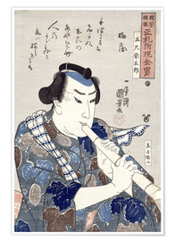 Poster Man Playing a Flute