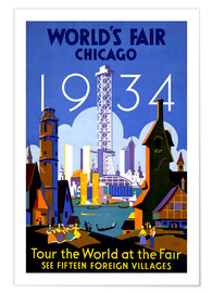 Poster  Chicago - Worlds Fair 1934 - Travel Collection