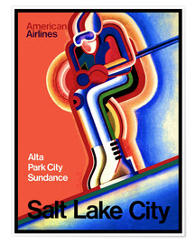 Poster  Ski à Salt Lake City - Travel Collection