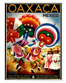Poster  Oaxaca Mexico - Travel Collection