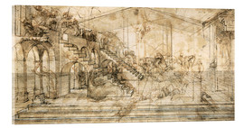 Verre acrylique  Perspective Study for the background of the Adoration of the Magi - Leonardo da Vinci