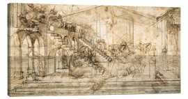 Toile  Perspective Study for the background of the Adoration of the Magi - Leonardo da Vinci
