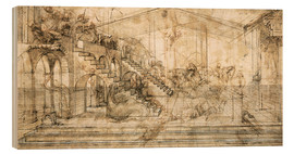 Bois  Perspective Study for the background of the Adoration of the Magi - Leonardo da Vinci