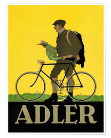 Poster  Vélo Adler - Advertising Collection
