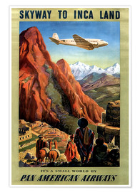 Poster  Vol au pays des incas (anglais) - Travel Collection