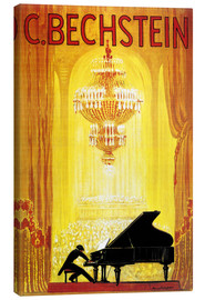 Tableau sur toile  Exposition C. Bechstein - Advertising Collection