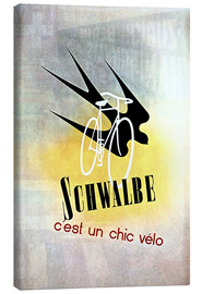 Tableau sur toile  Bicycles - Schwalbe, cest un chic velo - Advertising Collection