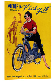 Tableau en verre acrylique  Who's talking about mopeds, praises Vicky Victoria - Advertising Collection