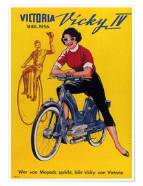 Poster Who´s talking about mopeds, praises Vicky Victoria
