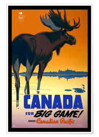 Poster  Canada - big game ! - Travel Collection