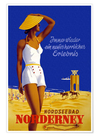 Poster  North Sea resort of Norderney