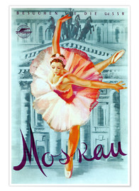 Poster  Moscow, ballet russe