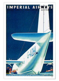 Poster  Imperial Airways - seaplane