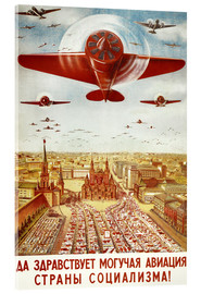 Tableau en verre acrylique  Aircraft parade on Moscow - Advertising Collection