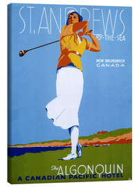 Tableau sur toile  St. Andrews - Golf (anglais) - Advertising Collection