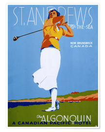 Poster  St. Andrews - Golf (anglais) - Advertising Collection