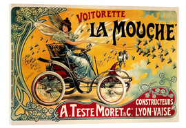 Tableau en verre acrylique  Voiturette La Mouche - Advertising Collection