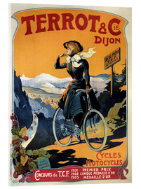 Tableau en verre acrylique  Terrot & Cie Dijon bicycles and motorcycles - Advertising Collection
