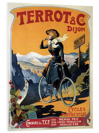 Tableau en PVC  Terrot & Cie Dijon bicycles and motorcycles - Advertising Collection