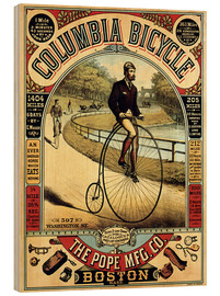Tableau en bois  Columbia Bicycle - Advertising Collection