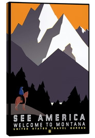 Tableau sur toile  See America - Welcome to Montana - Travel Collection